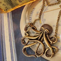 NEW Steampunk Retro of the Animal Octopus Pendant Necklace