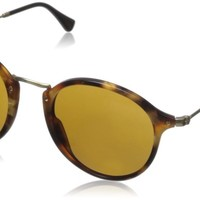 Ray-Ban Men's 0RB2447 Round Sunglasses Spotted Brown Havana & Brown 49 mm New