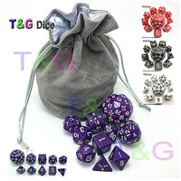 10pc Black Digital Dice Set with Bag T&G High quality d4 d6 d8 2xd10 d12 d20 d24 d30 d60 dnd RPG Playing Games Big dice TOY