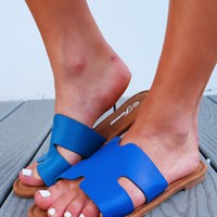 Summer Chic Sandals: Navy Blue