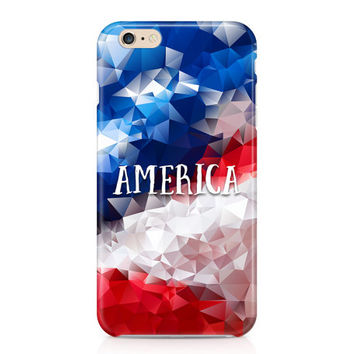 Geometric America Phone Case, Fourth of July Phone Case, Patriotic Phone Case, Red White and Blue Phone Case, iPhone, Samsung Galaxy
