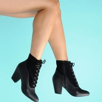 Lovely Lace Up Bootie