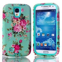 For Galaxy S4,S4 Case,S4 Cover Case,Samsung S4 Case,Galaxy S4 Case,Ezydigital Carryberry Accessories S4 Case,Luxury 3 in 1 Hybrid case for Samsung Galaxy S4 I9500,Green