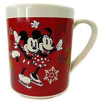 Mickey Minnie Mouse Coffee Mug Cup 14oz Caroling Together Christmas Disney k184