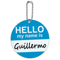 Guillermo Hello My Name Is Round ID Card Luggage Tag
