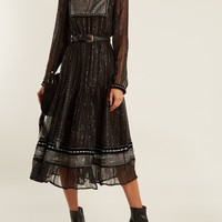 Karla embroidered tulle-trimmed chiffon dress | Dodo Bar Or | MATCHESFASHION.COM US