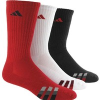 Adidas Cushioned Color Men's Crew Socks 3 Pack - Red/white/black
