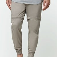 Bullhead Denim Co. Skinny Zip Off Jogger Pants - Mens Pants - Beige