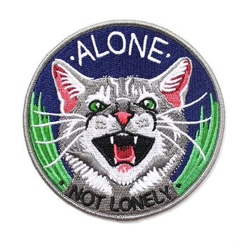 Alone, Not Lonely Cat Patch