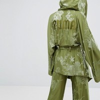 Puma X Fenty Boxing Robe In Olive Green at asos.com