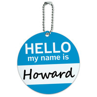 Howard Hello My Name Is Round ID Card Luggage Tag