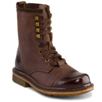 Dr Martens PIER DARK BROWN WYOMING+HI SUEDE - Doc Martens Boots and Shoes
