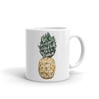 Wear a Crown Pineapple Typographic Mug