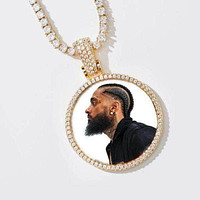 Custom Gold Picture Pendant Necklace