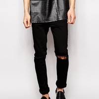 Hype Skinny Jeans With Ripped Knees