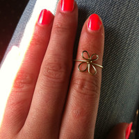 Gold Butterfly Midi Ring
