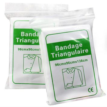 1 Pack Non-woven Triangular Plaster Bandage Medical Supply Wound Dressing Fracture Fixation Bandage Wound care