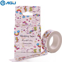 24 Patterns 15mm*10m Box Package Unicorn Washi Tape Excellent Quality Colorful Paper Tape Cute Animal Washi Masking Tape