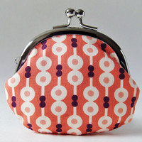 coin purse - pink abacus