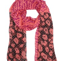 Patchwork Silk Chiffon Scarf by Juicy Couture