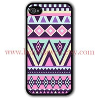 Aztec iphone case, iPhone 4 Case, iphone 4s case, geometric Painting iphone case
