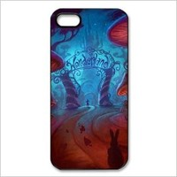 Alice in Wonderland iphone 5 Hard Plastic Back Cover Case
