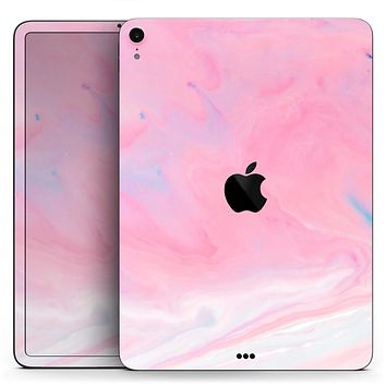 "Marbleized Pink Paradise V7 - Full Body Skin Decal for the Apple iPad Pro 12.9"", 11"", 10.5"", 9.7"", Air or Mini (All Models Available)"
