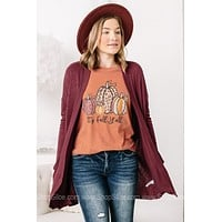 Caught Up In You Cardigan | Maroon