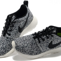 White & Black Nike Roshe Runs