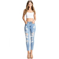 Halo Ripped Skinny Jeans