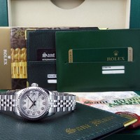 ROLEX - Ladies 18kt White Gold & SS DATEJUST Jubilee DIAMOND 179174 - SANT BLANC