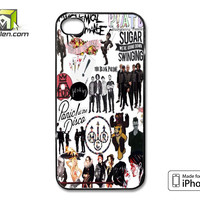 Fall Out Boy My Chemical Romance Panic At The Disco iPhone 4 Case Cover by Avallen