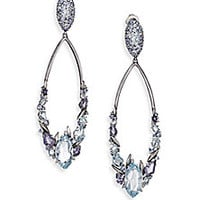 Alexis Bittar Fine - Blueberry Marquis Blue Topaz, Sapphire, Iolite, Grey Diamond & Sterling Silver Cluster Drop Earrings - Saks Fifth Avenue Mobile