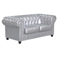 Chestfield Loveseat, Silver