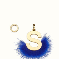 FENDI | ABCLICK S Pendant with blue fur | Fendi Online Store