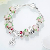 Apple Candy Pandora Inspired Bracelet