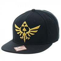 Nintendo Legend of Zelda-Triforce Snapback- One Size Fits Most Zelda Black