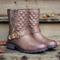 Well Traveled Brown Quilted Boots
