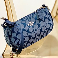 Copy of DIOR Bags Women's Shoulder Arc Round Edge Bags Shoulder Bag Dark blue