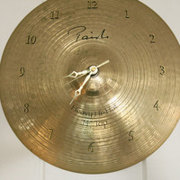 Cymbal Wall Clock Paiste Wall Clock Gift for Him
