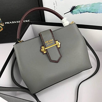 prada women leather shoulder bags satchel tote bag handbag shopping leather tote crossbody 222