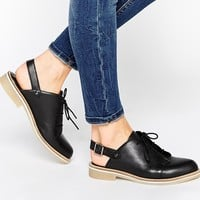 ASOS MAP READER Lace Up Leather Shoes