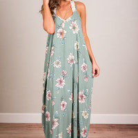 Beauty Is Upon You Maxi Dress, Sage
