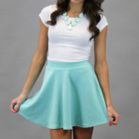 Go With The Flow Skirt - Mint