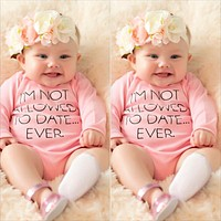 cute newborn boy girl clothes with long sleeves cotton pink Letter jumpsuit summer baby boys girls Rompers