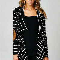 Waterfall Elbow Patch Cardigan