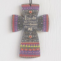 Car  Air  Fresheners:  All  Things  Through  Christ  Cross  Air  Freshener  From  Natural  Life