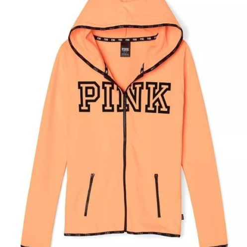 Image of Victoria's Secret PINK printing hooded pattern and long sleeved sweater