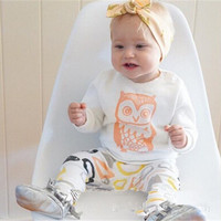 Bottom & Top Children Cartoons Owl Long Sleeve Set [9496579524]