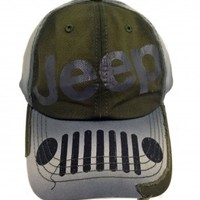 Jeep Distressed Grille Cap   Hats & Caps   Jeep Apparel   My Jeep Accessories